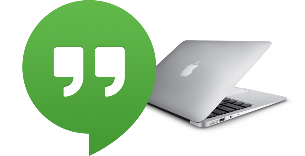 Google Hangouts on a MacBook Air